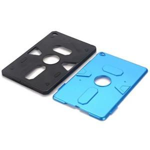 Outdoor dvoudílný gélový/plastový obal pre iPad mini 4 - modrý - 4