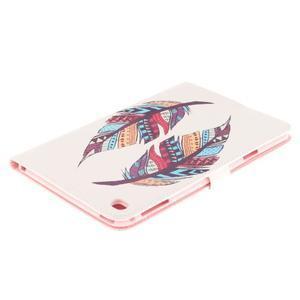Standy pouzdro na tablet iPad mini 4 - barevná peříčka - 4