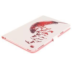 Standy pouzdro na tablet iPad mini 4 - ptačí peříčko - 4