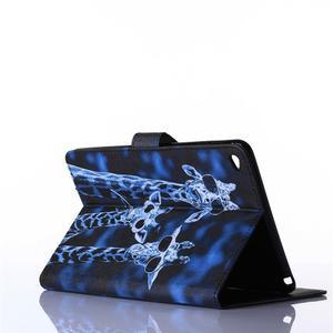 Knížkové pouzdro na tablet iPad mini 4 - žirafy - 4
