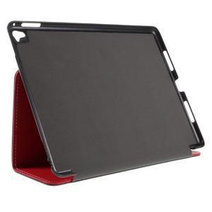 Clothy PU kožené puzdro pre iPad Pro 9.7 - červené - 4