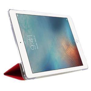 Trifold polohovatelné pouzdro na tablet iPad Pro 9.7 - červené - 4