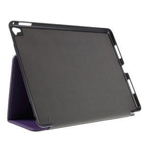 Clothy PU kožené puzdro pre iPad Pro 9.7 - fialové - 4