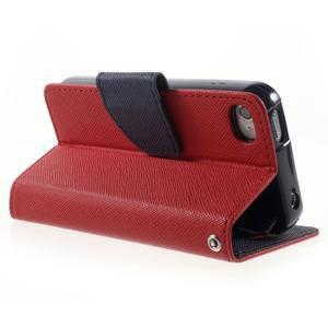 Fancys PU kožené puzdro pre iPhone 4 - červené - 4
