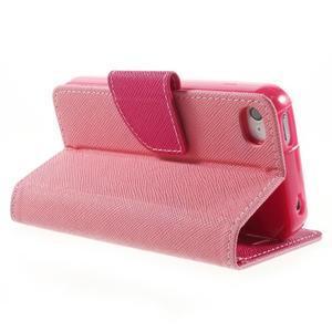 Fancys PU kožené puzdro pre iPhone 4 - ružové - 4