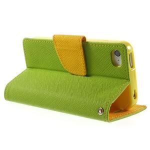 Fancys PU kožené puzdro pre iPhone 4 - zelené - 4