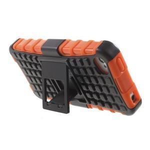 Outdoor odolný obal pre mobil iPhone 4 - oranžový - 4
