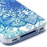 Emotive gélový obal pre mobil iPhone 4 - modrá mandala - 4/4
