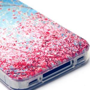 Emotive gélový obal pre mobil iPhone 4 - kvetoucí vetvičky - 4