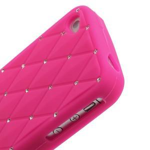 Diamonds silikonová obal na mobil iPhone 4 - rose - 4