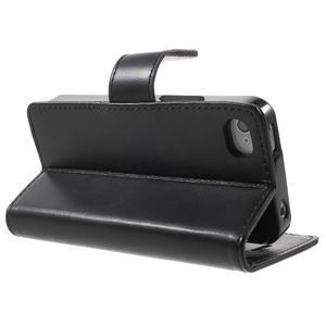 Moon PU kožené puzdro pre mobil iPhone 4 - čierne - 4