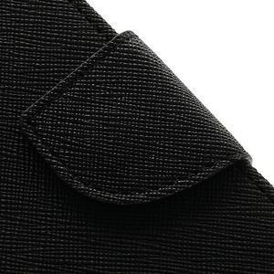 Fancys PU kožené puzdro pre iPhone 4 - čierne - 4