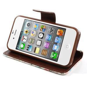 Elegantní PU kožené pouzdro na iPhone 4 - bílé pozadí - 4
