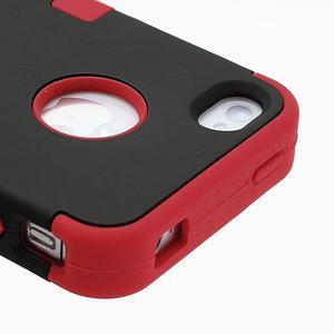Extreme odolný kryt 3v1 na mobil iPhone 4 - červený - 4