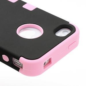 Extreme odolný kryt 3v1 na mobil iPhone 4 - ružový - 4