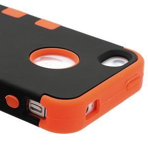 Extreme odolný kryt 3v1 na mobil iPhone 4 - oranžový - 4