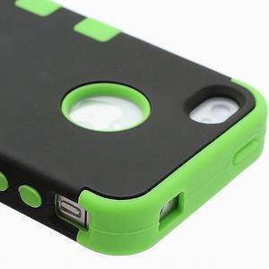Extreme odolný kryt 3v1 na mobil iPhone 4 - zelený - 4