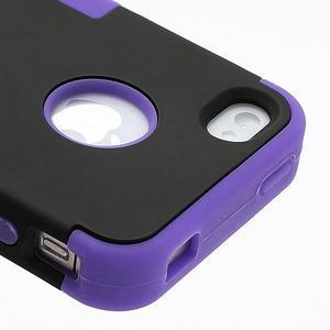 Extreme odolný kryt 3v1 na mobil iPhone 4 - fialový - 4