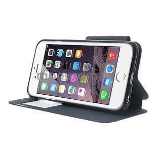 Peňaženkové puzdro s okienkom na iPhone 6 a 6s - fialové - 4