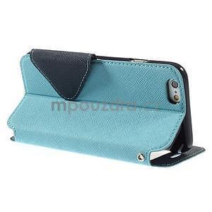 Peňaženkové puzdro s okienkom na iPhone 6 a 6s - svetlomodré - 4