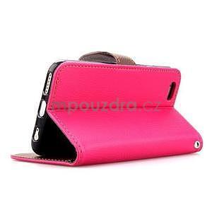 PU kožené peňaženkové puzdro pre iPhone 6s a 6 - rose - 4