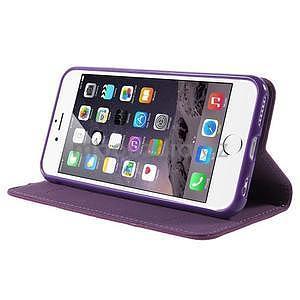 Klopové puzdro pre iPhone 6 a iPhone 6s - fialové - 4