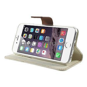 Peňaženkové koženkové puzdro na iPhone 6s a 6 - biele - 4