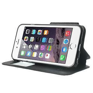 Peňaženkové puzdro s okienkom na iPhone 6 a 6s - čierne - 4