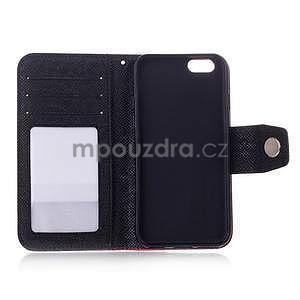 Dvojfarebné peňaženkové puzdro pre iPhone 6 a iPhone 6s - čierne/ zelené - 4