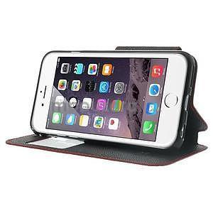 Peňaženkové puzdro s okienkom na iPhone 6 a 6s - červené - 4
