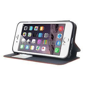 Peňaženkové puzdro s okienkom na iPhone 6 a 6s - oranžové - 4