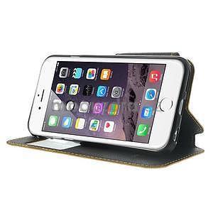 Peňaženkové puzdro s okienkom na iPhone 6 a 6s -  žlté - 4
