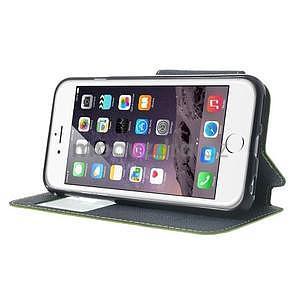 Peňaženkové puzdro s okienkom na iPhone 6 a 6s - zelené - 4