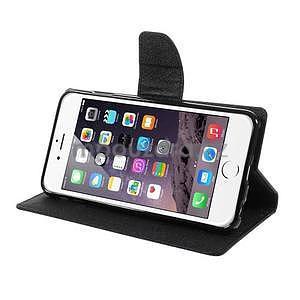 Peňaženkové puzdro pre iPhone 6 Plus a 6s Plus - čierne - 4