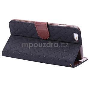 Elegantné peňaženkové púzdro pre iPhone 6 Plus a 6s Plus - čierne - 4