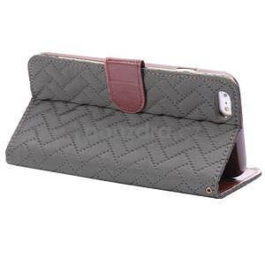 Elegantné peňaženkové púzdro pre iPhone 6 Plus a 6s Plus - šedé - 4