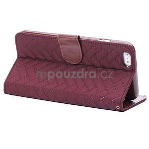 Elegantné peňaženkové púzdro pre iPhone 6 Plus a 6s Plus - vínové - 4