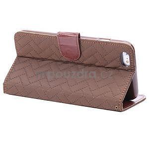 Elegantné peňaženkové púzdro pre iPhone 6 Plus a 6s Plus - hnedé - 4