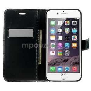 Kárované peňaženkové puzdro na iPhone 6 Plus a 6s Plus - čiernobiele - 4
