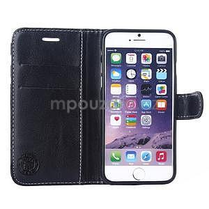 Peňaženkové puzdro Fancy na iPhone 6 Plus a 6s Plus - čiernobiele - 4