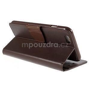 Peňaženkové puzdro pre iPhone 6 Plus a 6s Plus - hnedé - 4