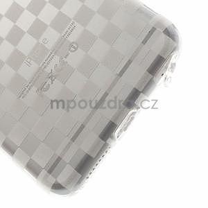 Transparentný kockovaný gélový obal na iPhone 6 Plus a 6s Plus - 4