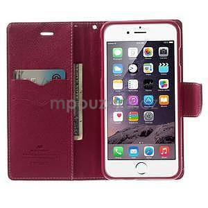 Peňaženkové puzdro pre iPhone 6 Plus a 6s Plus -  ružové - 4