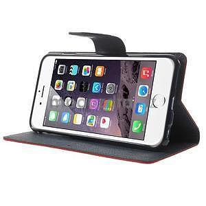 Peňaženkové puzdro pre iPhone 6 Plus a 6s Plus -  červené - 4