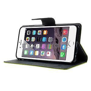 Peňaženkové puzdro pre iPhone 6 Plus a 6s Plus - zelené - 4