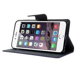 Peňaženkové puzdro pre iPhone 6 Plus a 6s Plus -  fialové - 4