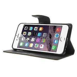 Peňaženkové puzdro pre iPhone 6 Plus a 6s Plus - hnedé/čierne - 4