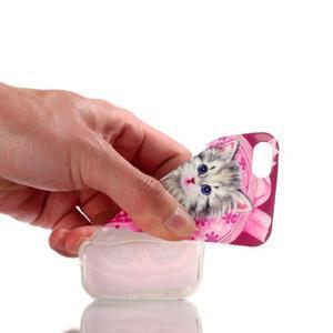 gélový obal pre mobil iPhone SE / 5s / 5 - mačiatko - 4