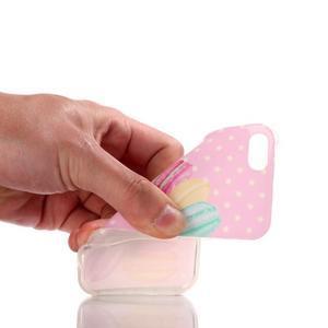Gelový obal na mobil iPhone SE / 5s / 5 - makrónky - 4