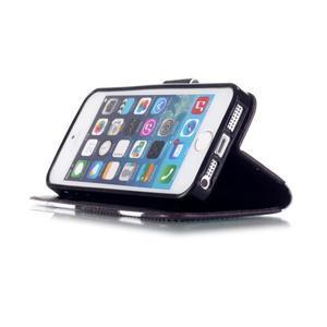 Peňaženkové puzdro pre mobil iPhone SE / 5s / 5 - kačer - 4